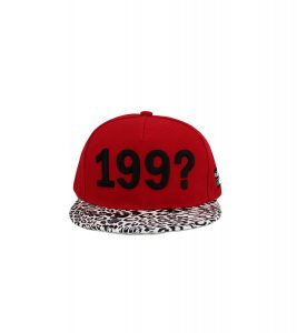 KeFigo Cap 199?-Front, red and leopard
